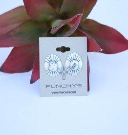 Punchy's White Buffalo Oval Stud Earring