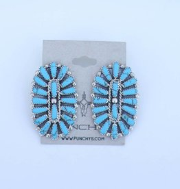 Punchy's 1 3/4in Cluster Turquoise Stud