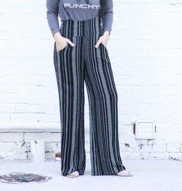 Black Striped Overall Jumper