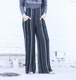 Punchy's Black Striped Overall Jumper