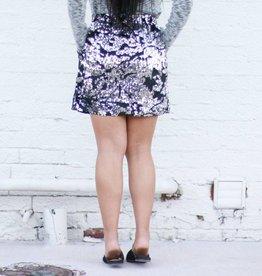 Punchy's Black Velvet Sequin Skirt