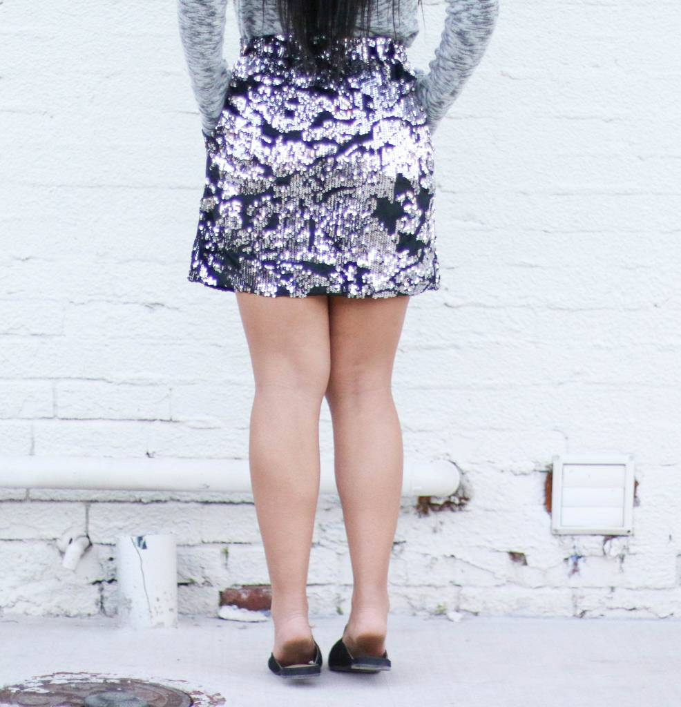 Punchy's Black Velvet Sequin Skirt