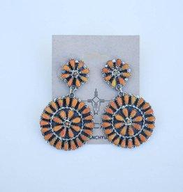 Punchy's Fireside Cluster Earring