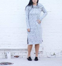 Long Sleeve Off The Shoulder Midi Dress