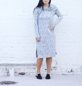 Punchy's Long Sleeve Off The Shoulder Midi Dress
