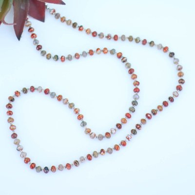 Punchy's Multi Colored Agate Bead Necklace 40""
