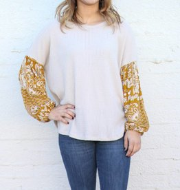 Punchy's Mustard Paisley Sleeve Thermal