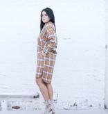 Mustard Plaid Woven Dress