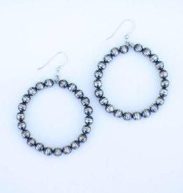 Punchy's Navajo Pearl Hoop Earrings