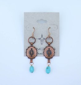 Punchy's Small Concho & Turquoise Earrings