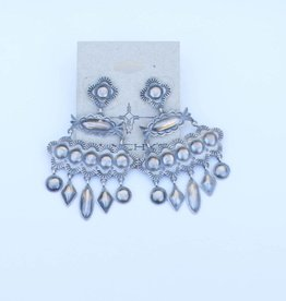 Punchy's Stamped Sterling Silver Dangle Earrings