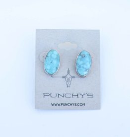 Punchy's Turquoise Oval Stud