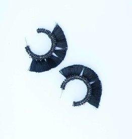 Punchy's Beaded Fringe Hoop Earrings
