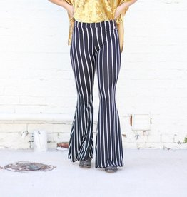 Punchy's Black Striped Bell Bottoms