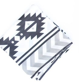 Punchy's Black White Southwest Print Wildrag