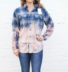 Punchy's Blue and Gray Bleached Flannel