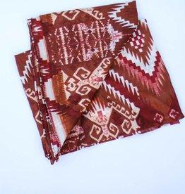 Punchy's Brown White Aztec Silk Scarf