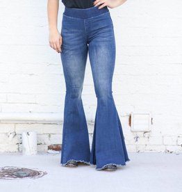 Punchy's Denim Frayed Hem Bell Bottoms