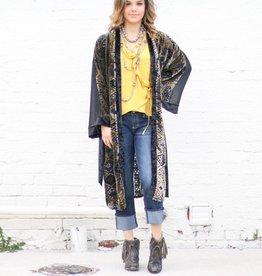 Punchy's Dublin Mixed Media Kimono Duster