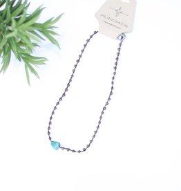 Punchy's Gemstone & Turquoise  Necklace
