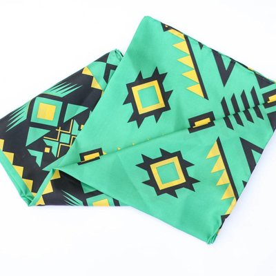 Punchy's Green Black Southwest Silk Scarf