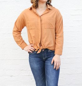 Punchy's Long Sleeve Front Tie Top