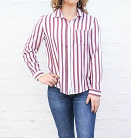 Punchy's Long Sleeve Stripe Button Down
