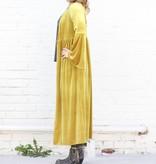 Punchy's Mustard Velvet Duster with Bell Sleeve