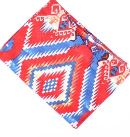 Punchy's Red Blue Aztec Silk Wild Rag