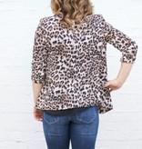 Ruched Sleeve Leopard Blazer