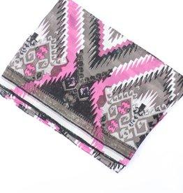Punchy's Silver Pink Aztec Silk Wildrag