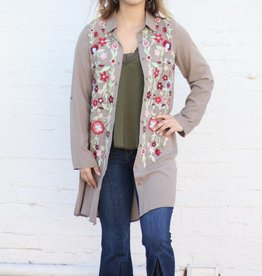 Punchy's Button Up Embroidered Tunic
