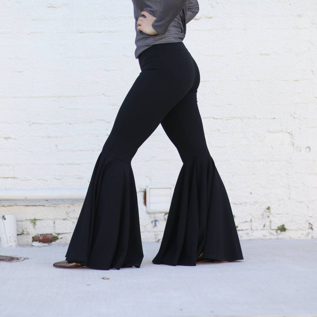 Punchy's Black Wide Bell Bottoms