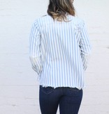 Punchy's Katya Striped Pearl Snap Long Sleeve Top