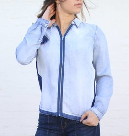 Punchy's Leia Zip Front Collared Top