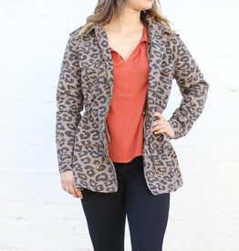 Punchy's Leopard Print Cargo Jacket