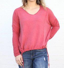 Punchy's Sabrina Knit Woven Top