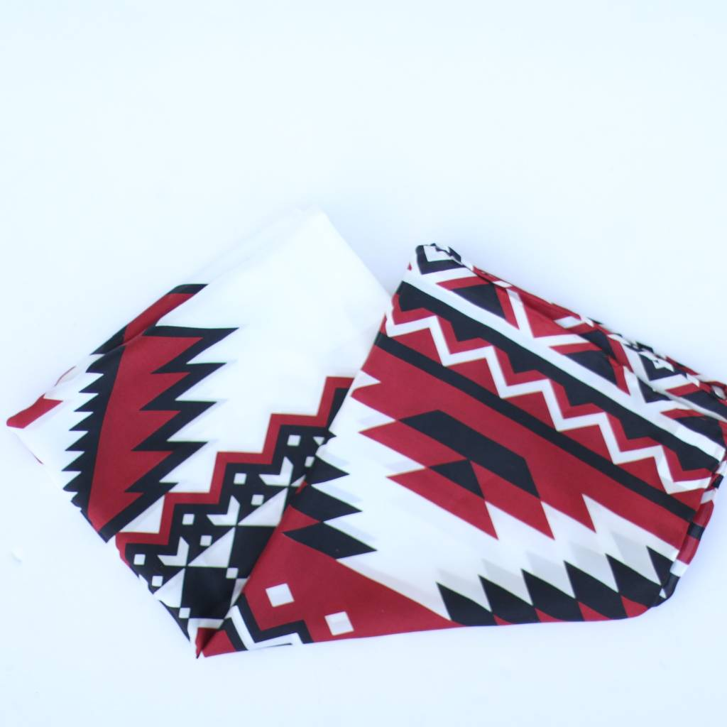 Punchy's Red Black Southwest Print Wildrag