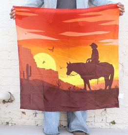 Punchy's Sunset Cowboy Silk Wildrag