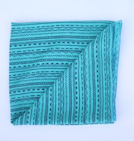 Punchy's Turquoise and Black Tribal Print Wild Rag