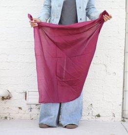 Punchy's Solid Maroon Silk Scarf
