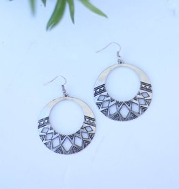 Punchy's BS Aztec Cutout Circle Earring