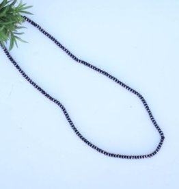 Punchy's Silver and Black Rondell Necklace