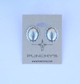 Punchy's Medium Oval Flower Concho Stud