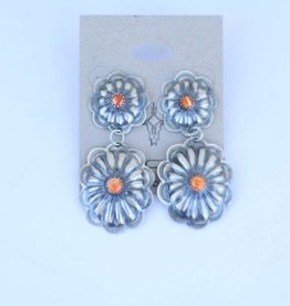 Punchy's Spiny Double Concho Earring