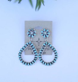 Teardrop Flowerpost Earring
