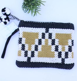 Punchy's Mustard & Black Hand Loomed Clutch