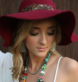 Floppy Hat with Feather Band