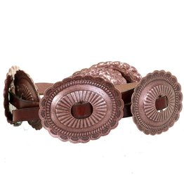 Punchy's Antique Copper Oval Concho Belt