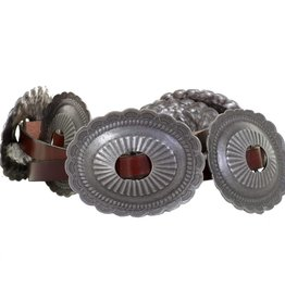 Punchy's Antique Silver Oval Concho Belt
